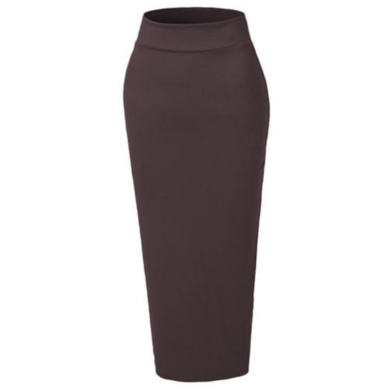df32d636cf Black White Coffee Skirts Womens Slim Fit skirt Muslim Thick Skirt Bodycon  Slim High Waist Stretch Long Maxi Women Pencil Skirt