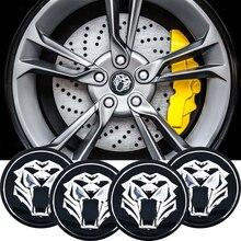 4pcs/lot Car Motorcycle 56mm 3D Tiger head Steering Wheel Center Hub Cap Emblem Badge Stickers For Jaguar Hubcap Audi BMW Nissan