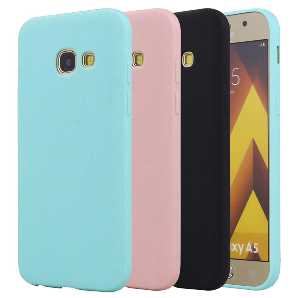 Silicone étui pour Samsung Galaxy A5 2017 A520 A520F Mignon TPU Filles Drôles Coque Couverture Arrière Noir Pour Samsung Galaxy A5 2017
