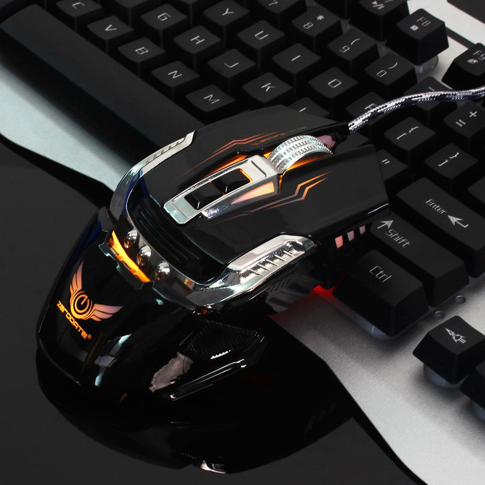 Image 5 - ZERODATE X900 7 Buttons USB Wired Gaming Mouse Mechanical Computer PC Mouse Mice 3200DPI  LED Backlight for LOL DOTA2 Computer-in Mice from Computer & Office