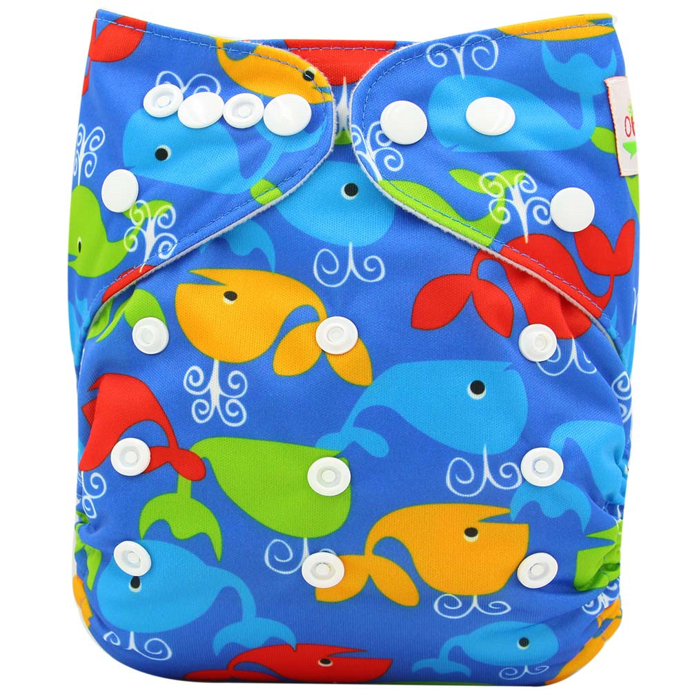 Ohbabyka Baby Cloth Nappies Adjustable Diaper Covers Reusable Baby Diapers Couche Lavable Washable Bamboo Fiber Baby Nappy Cover