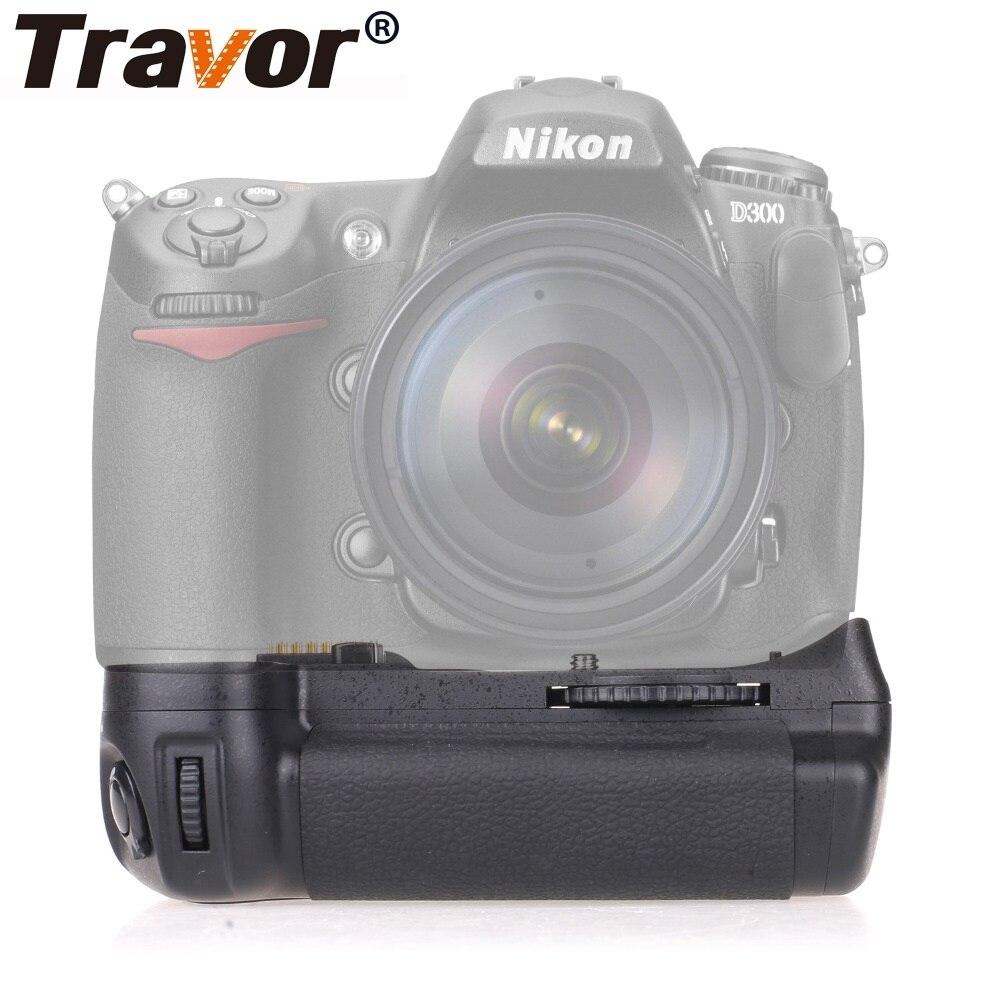 Travor Camera Vertical Battery Grip For Nikon DSLR D300 D300S D700 Battery Handle Replace MB-D10 Work With EN-EL3E Battery meike mk d300 mb d10 bg d300s battery grip for nikon d700 d300 d300s
