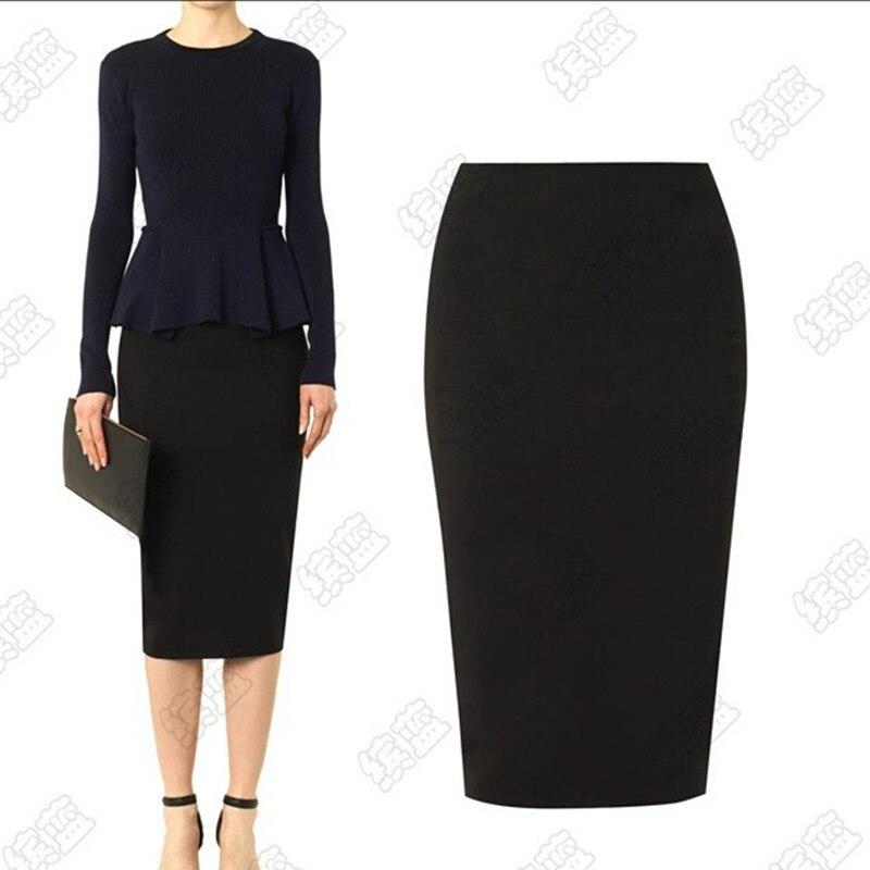 Popular Plain Black Pencil Skirt-Buy Cheap Plain Black Pencil ...