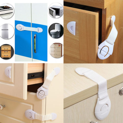 2pcs/lot New Child Infant Baby Kids Drawer Door Cabinet Lock Cupboard Toddler Locks Safety Protection Lock