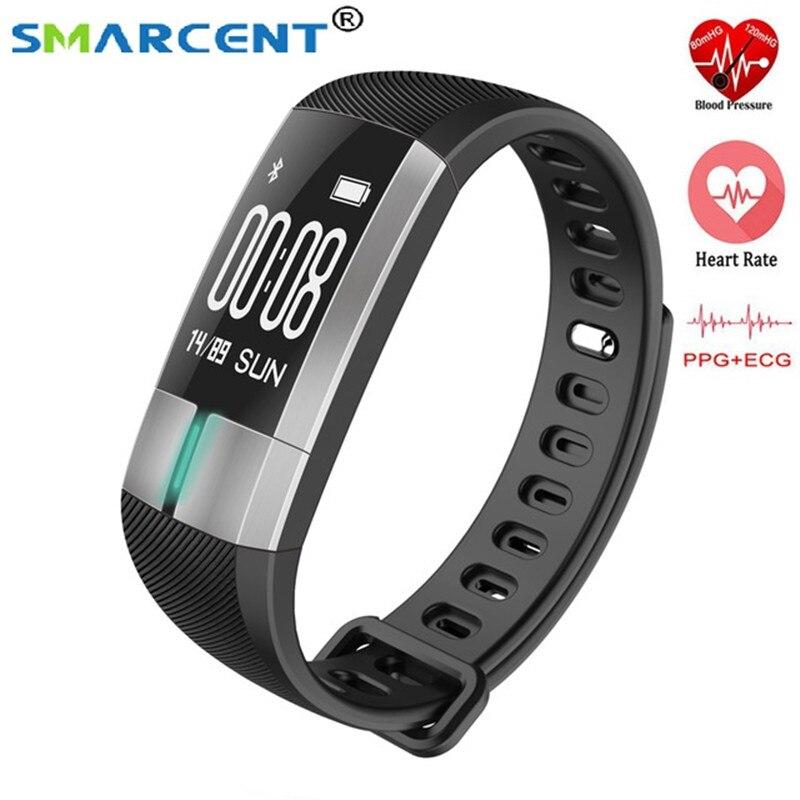 SMARCENT G20 ECG Smart Monitoring Bracelet Fitness Tracker Activité Sang Pression Bracelet Coeur Taux Bande À Puce PK mi bande 2