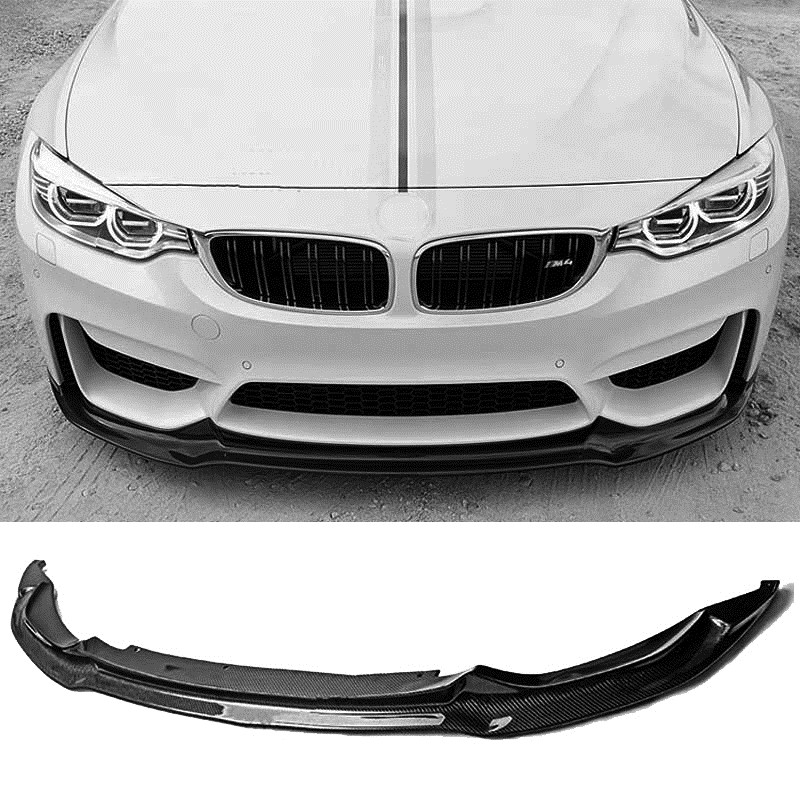 Carbon fiber Front Bumper Lip Fit For BMW F8X M3 M4 B256