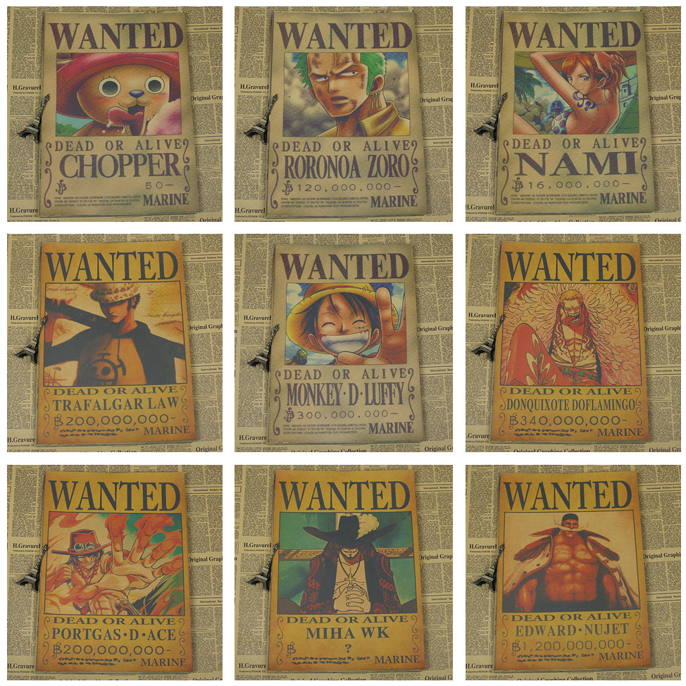 An effective poster grabs attention from the viewer and immediately communicates its main idea, while a poorly designed pos. One Piece Wanted Poster   Free Worldwide Shipping   No 1 ...
