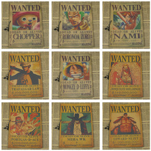 Vintage One Piece Zoro Nami Law Chopper Wanted Poster 42 x 30cm