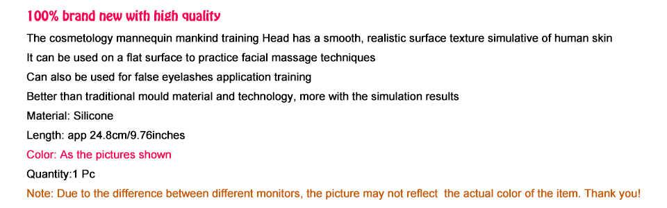 CAMMITEVER Pro gumy praktyki szkolenia głowy kosmetologii manekin lalki twarz głowa do rzęs makijaż praktyka
