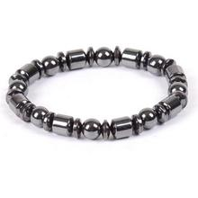Magnetic Health Care Biomagnetism Magnetic Round Black Stone Magnetic Bracelet(China)