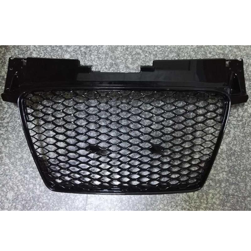 TT modifié TTRS Style cadre noir capot avant Grille centrale Grille pour Audi TT 2008 2009 2010 2011 2012 2013 2014