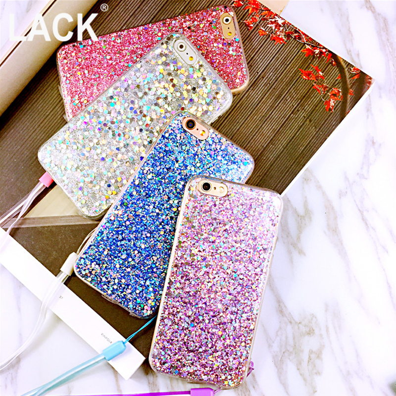 Para iphone 6 3d caja de lujo del brillo de bling para el iphone 6 s 6 plus Cara