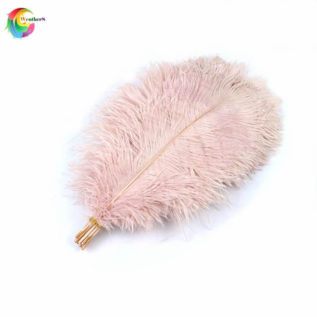 ¡Nuevo! Plumas de avestruz rosas naturales para bebé, lote de 50 unidades de plumas de cola, manualidades de 35 40 cm/14 16 pulgadas, plumas para centros de mesa de boda, decoración del hogar
