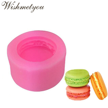 WISHMETYOU 3D Macaron Silicone Soap Mold For Diy Handmade Cake Chocolate Decorating Tools Candle Fondant Moulds Making Craft New