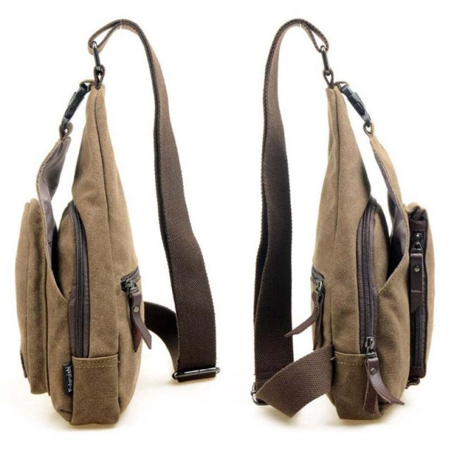 Casual Canvas Shoulder Messenger Backpack