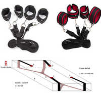 Bdsm Bondage Set Restraint Adult Sex Toys For Woman Couples Handcuffs For Sex Leg Open Games+Wrists Ankle Cuffs Under Bed System