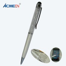 Free shipping Hot sale New Arrival Two in One Mini Crystal Pen with Touch Screen Stylus все цены