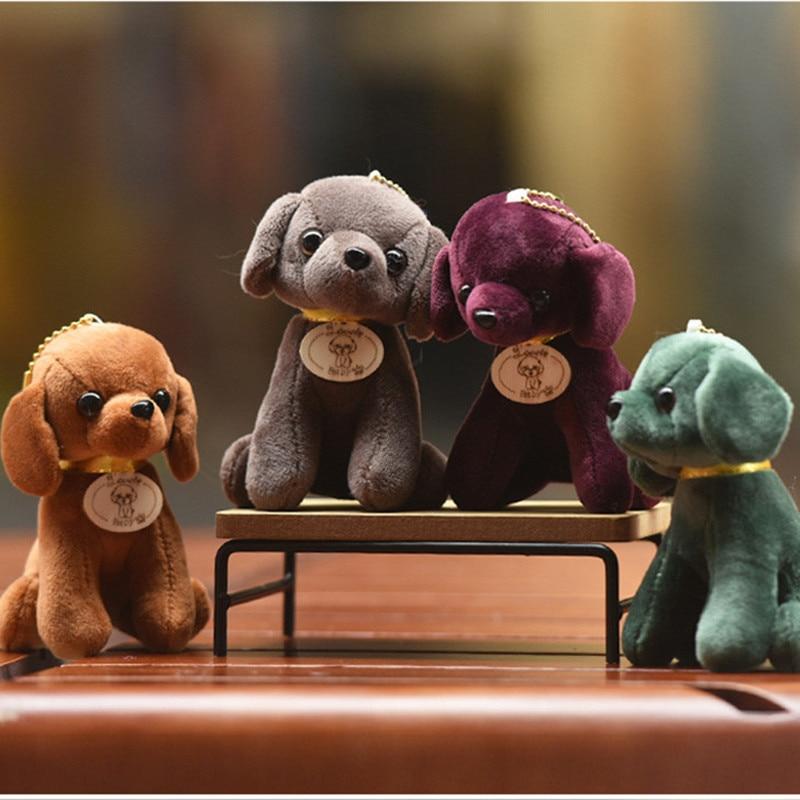 Mini Lover Dog 12cm Plush Stuffed Animals Toys  4Colors Plush Keychain Pendant Plush Toys Wedding Toys Dog Plush Toy