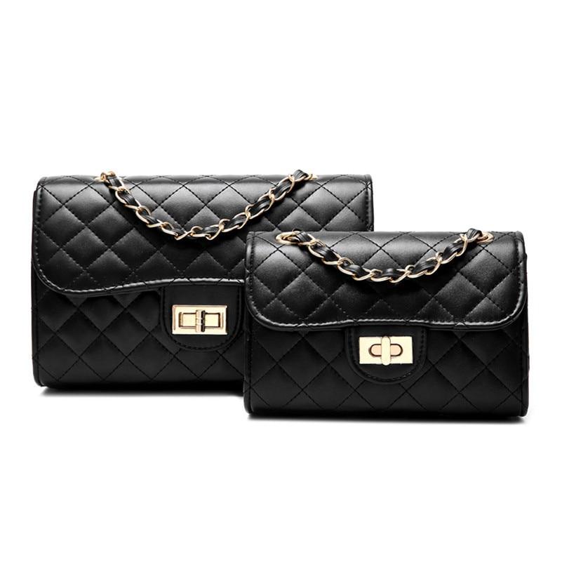 Fashion Womens Handbags 2018 Luxury Women Bags Designer Lingge Chain Ladies Shoulder Messenger S or L Size Selection