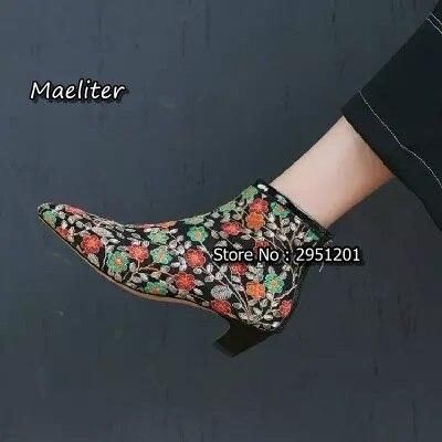 Air Talon Broder Boot The Mesh Bottes Cheville Picture Femelle Mode Femmes Pointu As Printemps Picture Chaton Choudory Chaussures Zipper Été Bout as Retour Fleur wqURXYwa