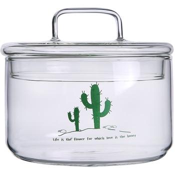 Heat-Resistant Stackable Glass Storage Jars Food Airtight Container Coffee mason jar Cereal Dispenser Kitchen Storage Organizer 6