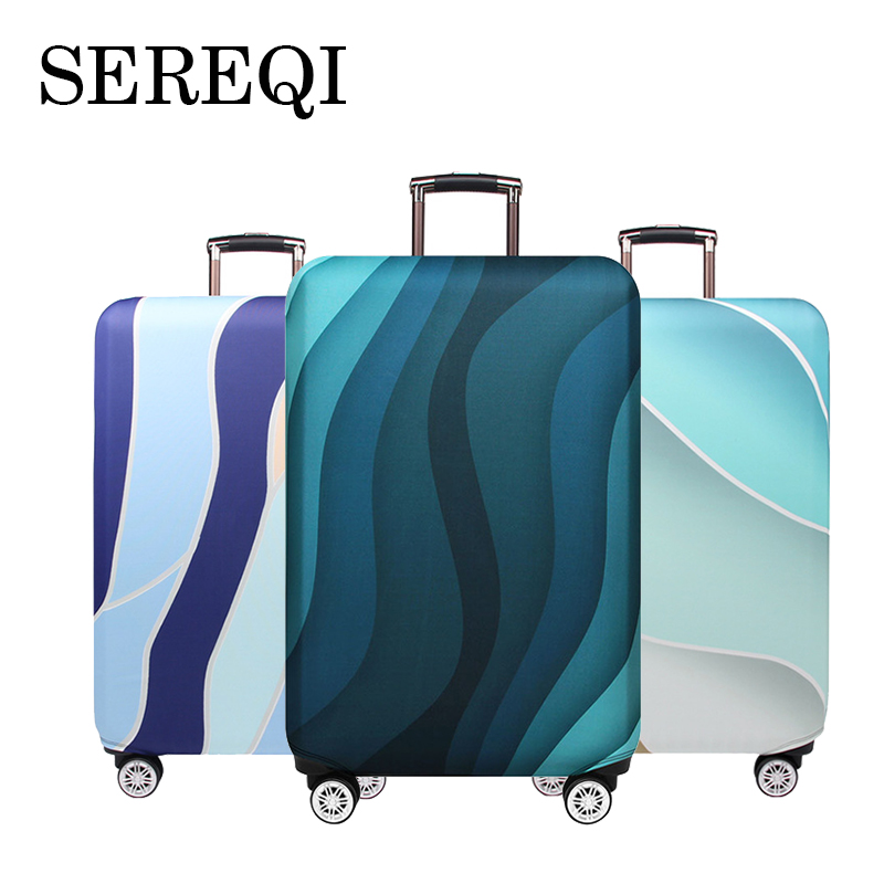 SEREQI Stripe Travel Luggage Cover For 18-32 Inch Suitcase Travel Bag Protection Case Luggage Bag Dust Cover Travel Accessories