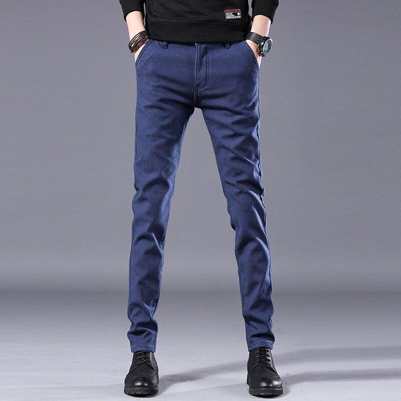 HTB1er1RLCzqK1RjSZFHq6z3CpXa9 Men's Business Casual Pants Trend Designer Korean Style Slim Male Trousers Classic Plaid High Quality Straight Stretch Pants Men