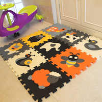 mei qi cool 9Pcs animal Pattern Foam Puzzle Kids Rug Carpet Split Joint EVA baby Play Mat Indoor Soft activity Puzzle Mats gym