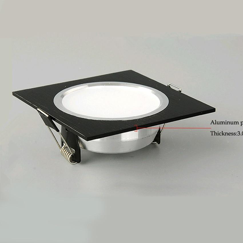 10Pcs LED Downlight 3W 5W 7W Square Recessed Lamp Led Bulb Bedroom Kitchen 9W 12W LED Ceiling Spot Lighting AC110V 220V