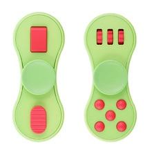 มัลติฟังก์ชั่นิ้วปินเนอร์Fidgets ABSของเล่นEDCมือปั่นสำหรับออทิสติกและสมาธิสั้นหมุนตลกต่อต้านความเครียดของเล่น