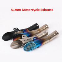Universal Exhaust Pipe Motorcycle Exhaust Muffler Escape Exhaust System Tip Tail Pipe for 38 51mm Exhaust Dirt Bike ATV