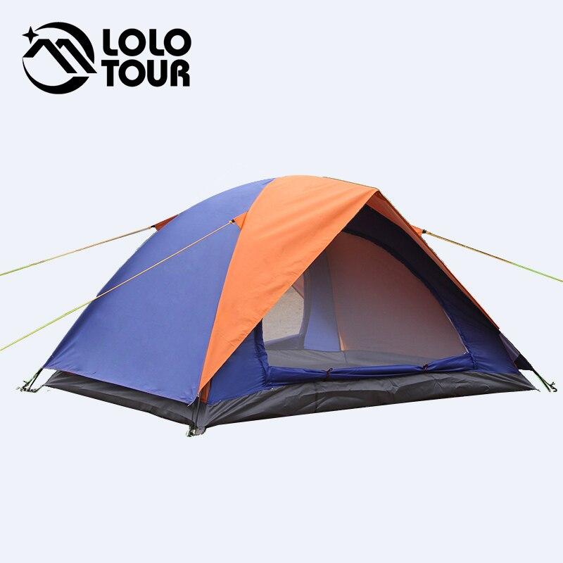 Ultralight 2 Person Beach Canvas camping Tent Barraca Carpas Tienda De Acampar Waterproof Folding Double Layer