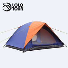 Ultralight 2 Person Beach Canvas camping Tent Barraca Carpas Tienda De Acampar Waterproof Folding Double Layer 3 Season Tente E2