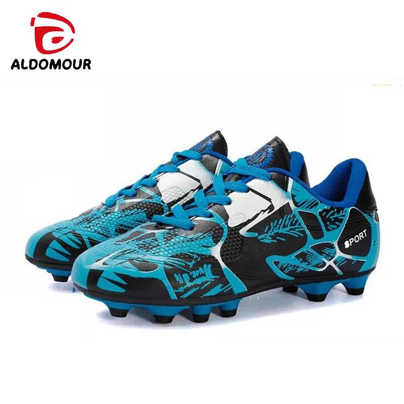 ALDOMOUR transitoire football football chaussures haute cheville hommes crampons football bottes de football d'origine sneakers