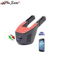 WHEXUNE WiFi voiture DVRS Full HD 1080P enregistreur tableau de bord caméra de bord moniteur de stationnement Vision nocturne Novatek 96658 Surveillance vidéo