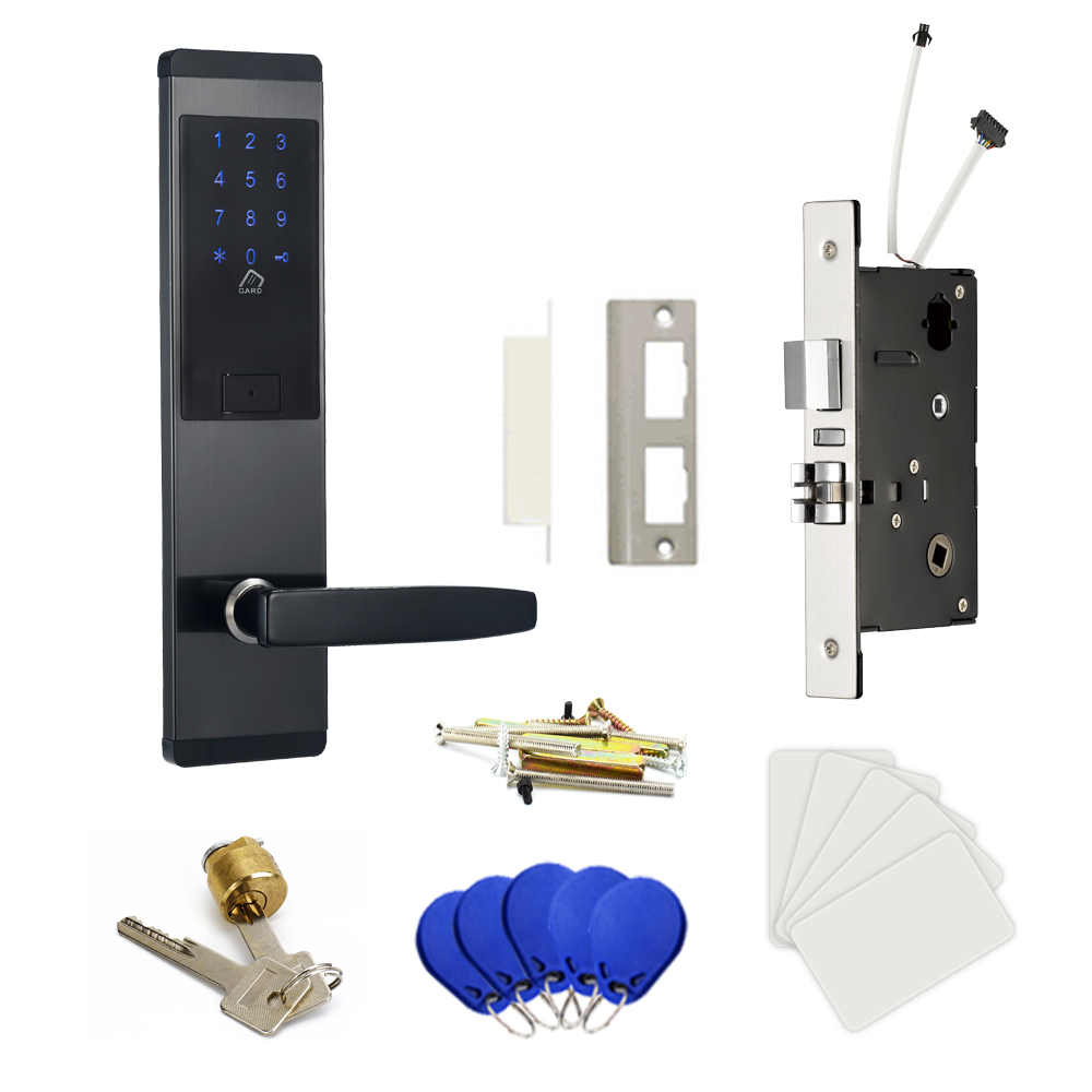 Image 5 - Security Electronic Digtial Lock, Keyless digital Safe Lock Door Smart Card Keypad Password Pin Code Door Lock for Smart Home-in Electric Lock from Security & Protection