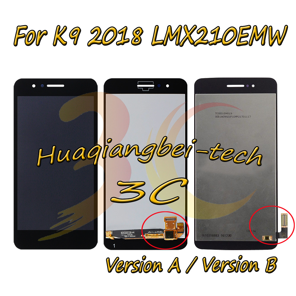 5.0 New For LG LMX210MA Aristo LTE / K9 2018 LMX210EMW LMX210NMW LMX210EM Full LCD DIsplay + Touch Screen Digitizer Assembly With Frame 100% Tested-in Mobile Phone LCD Screens from Cellphones & Telecommunications on