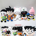 New Anime Dragon Ball  Son Goku Chiaotzu Majin Buu Mr Popo Garin Fairy 5*Pcs 20cm Plush Doll Kids Baby Toy Children Gift