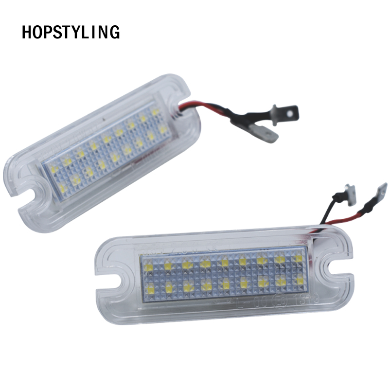 2PCS Car LED License Plate Lights For Mercedes Benz W463 12V Number Plate Lamp G-Class G550 1990-2012 Auto accessories
