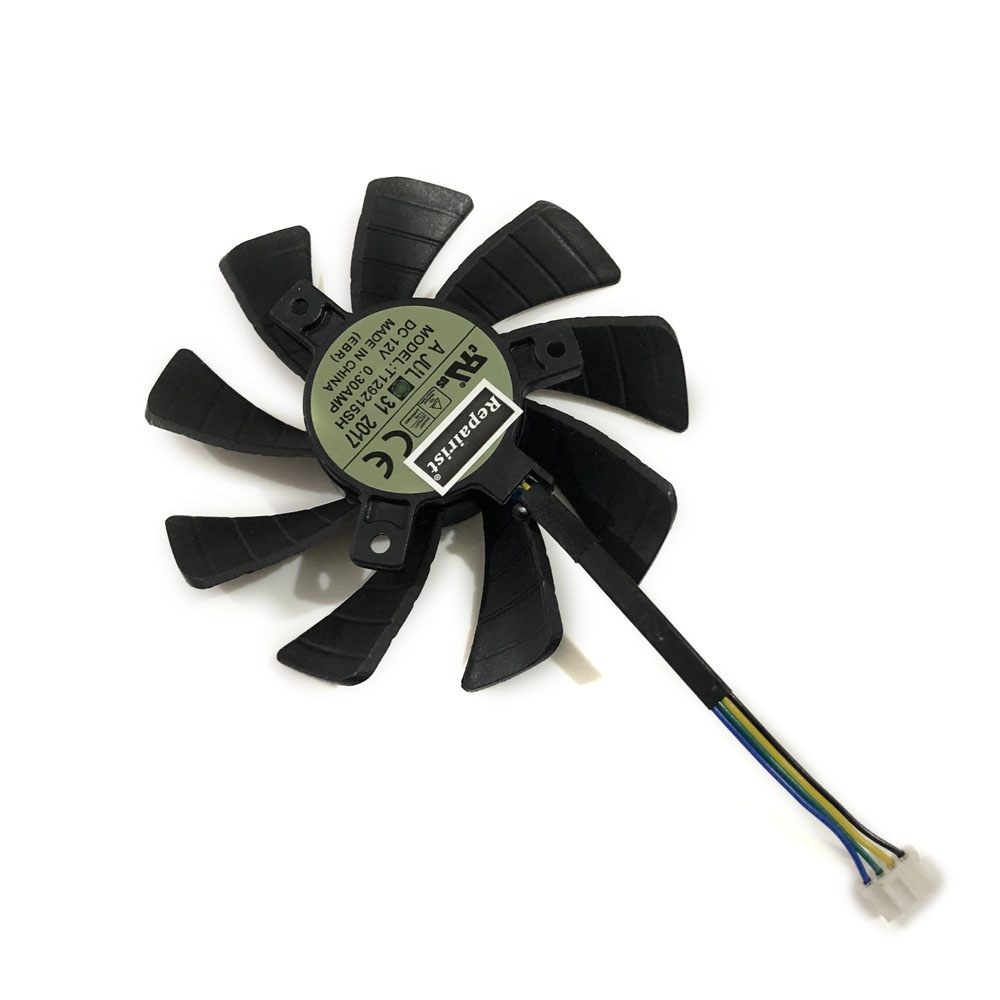 T129215SH GPU VGA Cooler Graphic Card Fan For Zotac GTX 1060 3GB GTX1060 6GB Mini Video Card Cooling As Replacement image