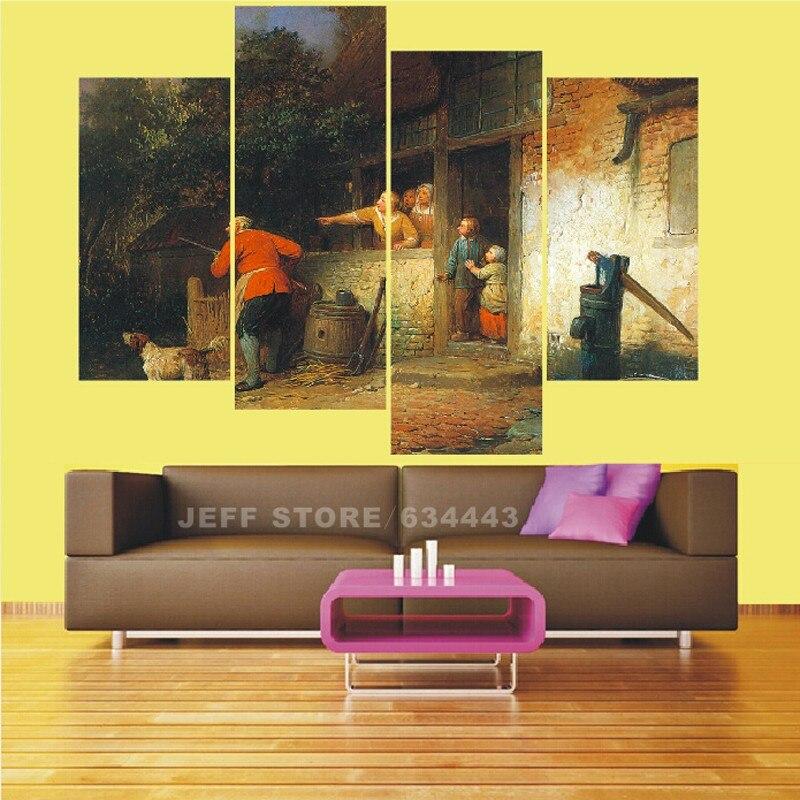 Cuadros Abstractos Texturados Home Decorative Wall Painting 4 Group ...