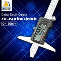 depth vernier caliper micrometer 150 mm 6'' digital vernier caliper stainless steel digital electric digital depth gauge
