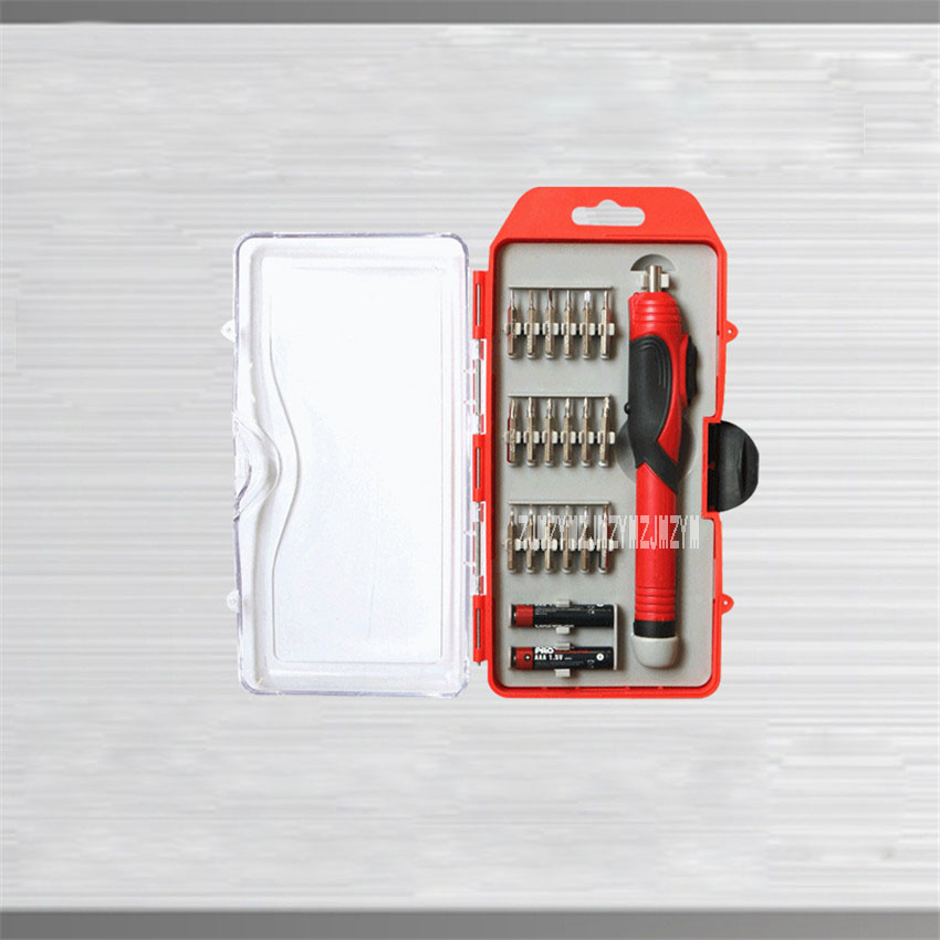 New Pen Type Dry Battery Electric Screwdriver Set Precision Screwdriver Repair Tool With Magnetic 3V 1.5NM 120 RPM Hot Selling