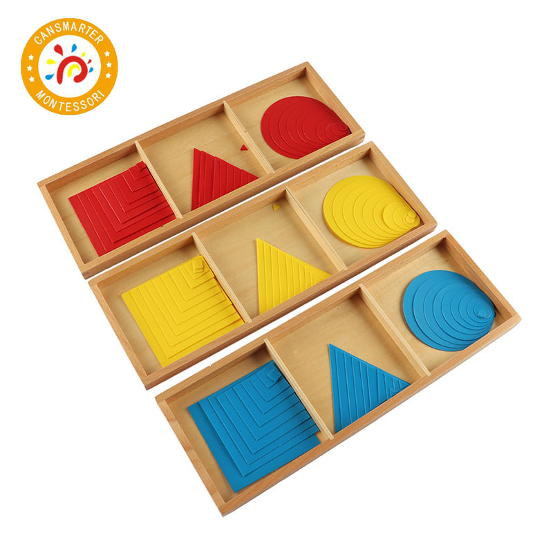 Montessori Kids Toy High-Quality Circles Squares Triangles Sensory Education Preschool Training Wooden Toys SE057