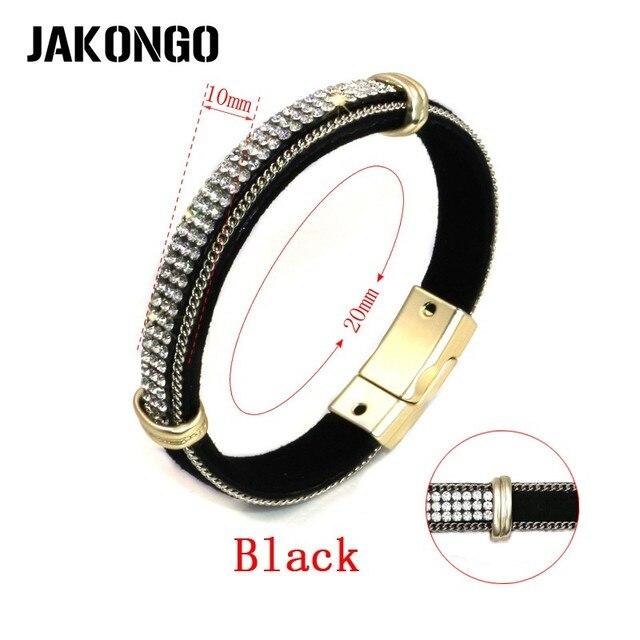 JAKONGO Leather Crystal...