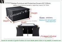 Medium Size Rattan Furniture Set Protective Cover 53 Garden Furniture Cover Water Proofed Cover For Outdoor