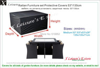 Medium size Rattan furniture set Protective cover 53