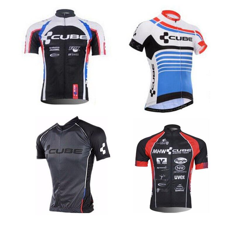 Prix pour 2016 Marque Pro Équipe Cube Vélo Jersey Ropa Ciclismo Rapide-Sec Sport Jersey Vélo Clothing Bike Wear Vtt Jersey
