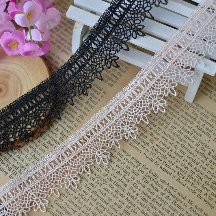 Apparel Sewing & Fabric Just New Arrival 10meters/lot Width 2.2cm Novelty Diy Lace Fabric/2 Colors Water Soluble Lace Clothing Materials Lace Diy Accessories Profit Small