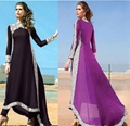 Muslim Lace Patched Women Dress Plus Size 6l Long Maxi Dress Plus Size Lady Clothing Dresses